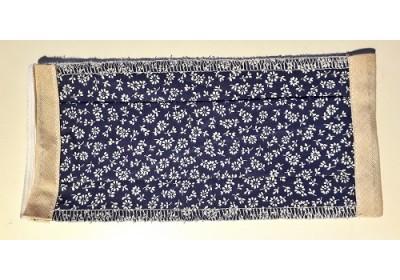 Masque de protection adulte - fleurs bleues