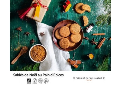 Sablé de Noël au pain d'épices - Local, Bio & Vegan - 100 gr
