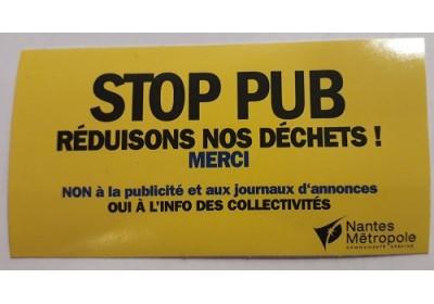 """Autocollant """"Stop Pub"""" (gratuit)"""