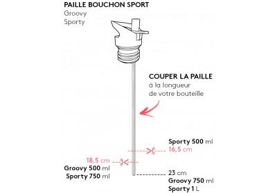 Paille pour bouchon sport gourde Sporty/Groovy