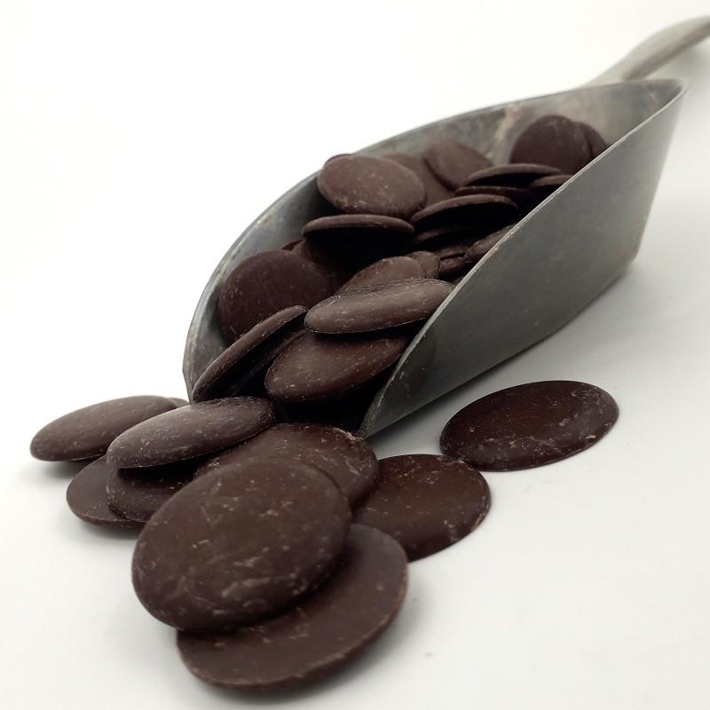 Chocolat noir 74% de cacao en palets - 100 gr - Bio
