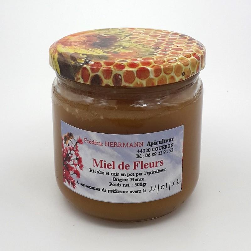 Miel de fleurs - Pot 500 gr - Local, NON BIO (Frédéric Herrmann)