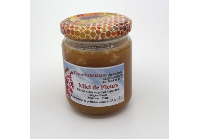Miel de fleurs - Pot 250 gr - Local, NON BIO (Frédéric Herrmann)