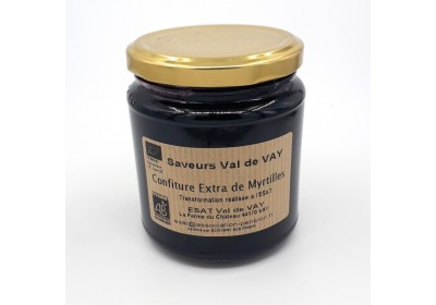 Confiture de Myrtilles - Bio et local (Pot 360 gr consigné)
