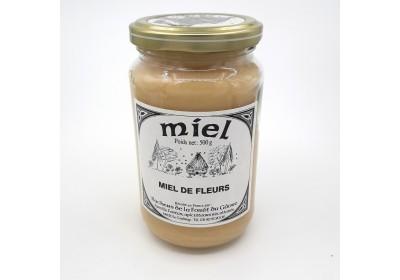 Miel de fleurs - Pot 500g - Local, NON BIO (Ruchers de la fôret du Gâvre)