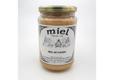 Miel de fleurs - Pot 1Kg - Local, NON BIO (Ruchers de la fôret du Gâvre)