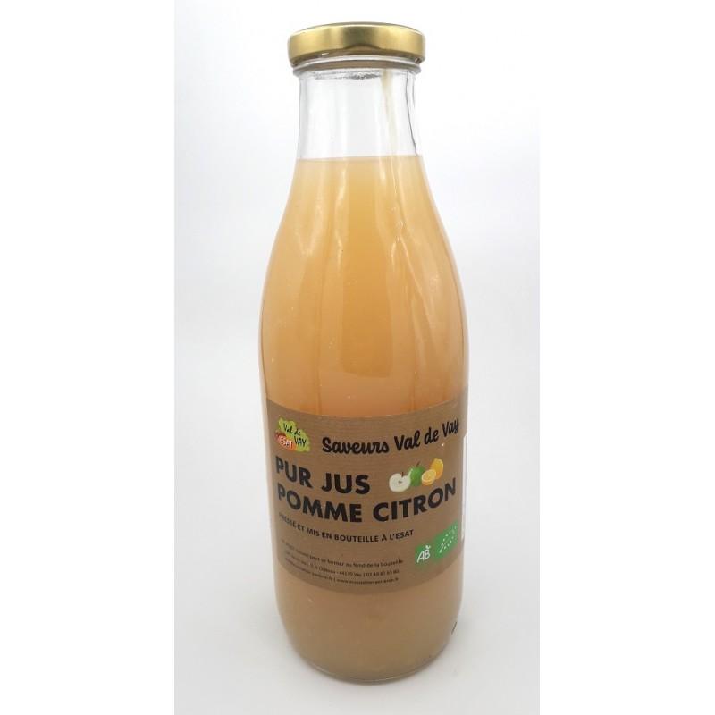 Jus de pomme, citron - Bio & Local - Les saveurs du Val de Vay (0.75L)