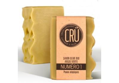 Savon Olive Bio Argile Verte - Crü - 100 Gr