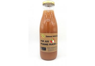 Jus de pomme, Fraise - Bio & Local - Les saveurs du Val de Vay (0.75L)