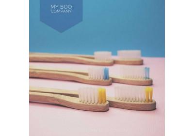 Brosse à dents en bambou - enfant - souple