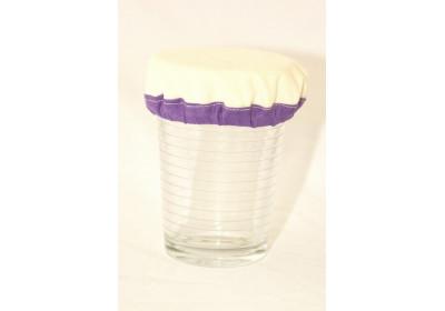 Couvre-plat en coton bio imperméable 12 cm - violet