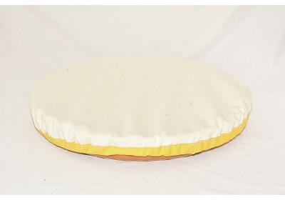 Couvre-plat en coton bio imperméable 40 cm - jaune