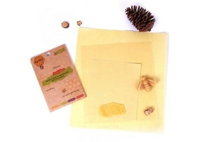 Emballage alimentaire réutilisable à la cire d'abeille (Lot de 3 - tailles SML)