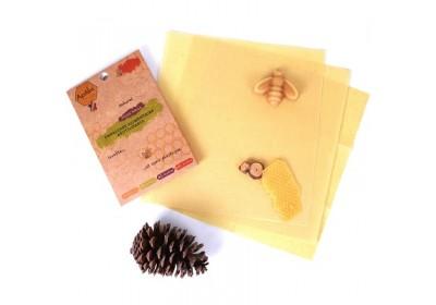 Emballage alimentaire réutilisable à la cire d'abeille (Lot de 3 - taille M)