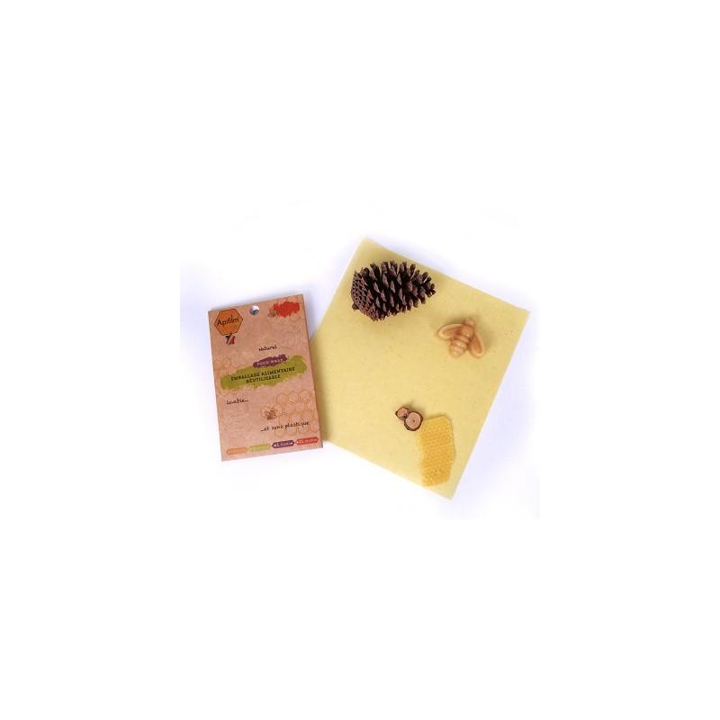 Emballage alimentaire réutilisable à la cire d'abeille
