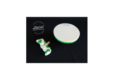 Couvre-plat en coton bio imperméable 20 cm - vert