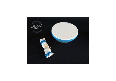 Couvre-plat en coton bio imperméable 25 cm - bleu