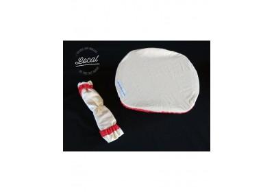 Couvre-plat en coton bio imperméable 30 cm - rouge