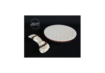 Couvre-plat en coton bio imperméable 35 cm - marron
