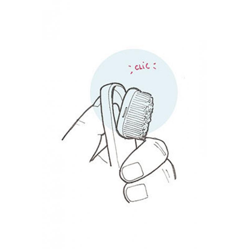 Lot de 2 recharges pour brosses à dents - Souple - Caliquo
