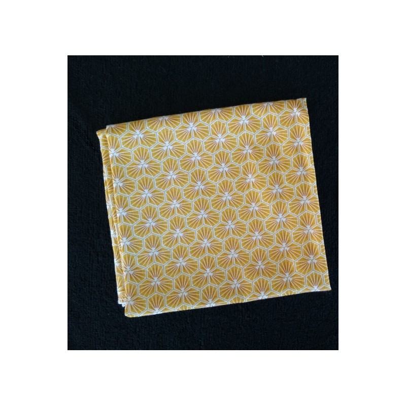 Furoshiki Cadeau jaune - taille : 58x58