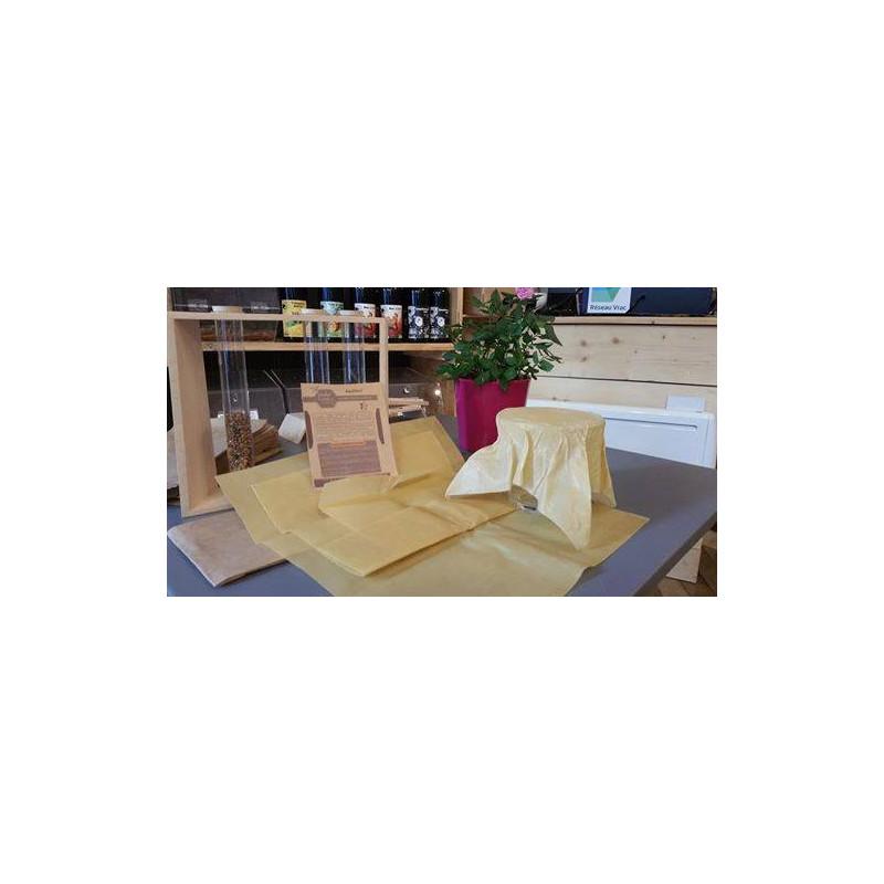 Emballage alimentaire réutilisable à la cire d'abeille (Lot de 2 - taille L)