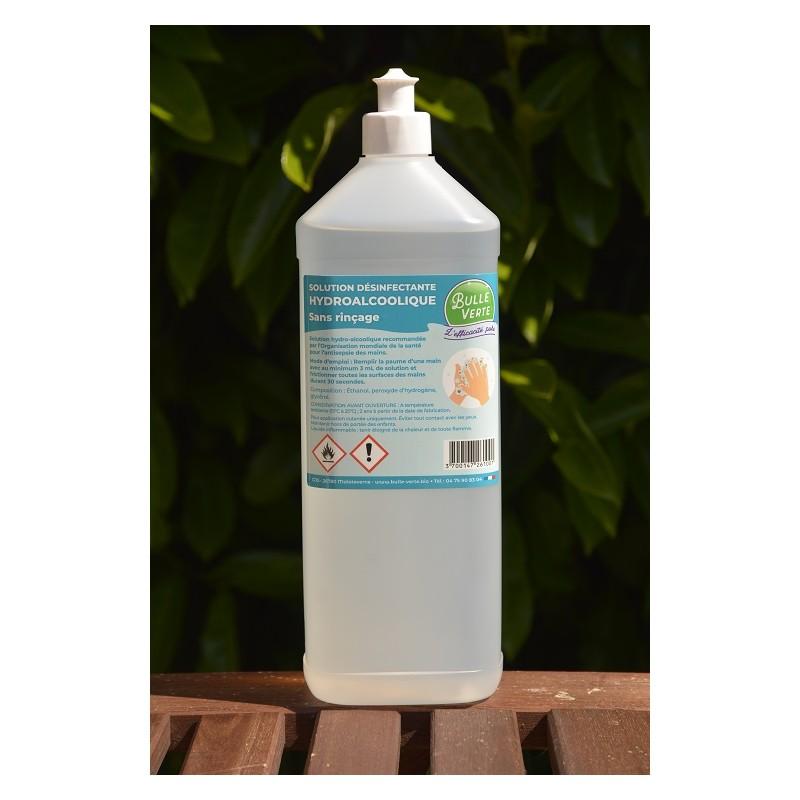 Solution désinfectante hydroalcoolique - 0.95Kg - (bouteille 1L consignée)