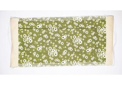 Masque de protection adulte - Fleurs vertes